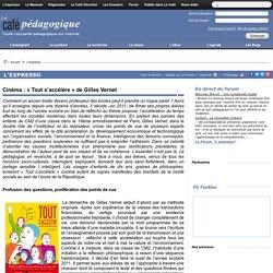 Cinéma : « Tout s'accélère » de Gilles Vernet