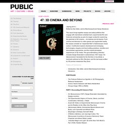 » 47: 3D Cinema and Beyond Public Journal