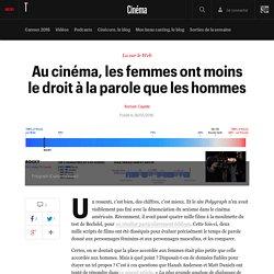 Au cinéma, les femmes ont moins le droit à la parole que les hommes