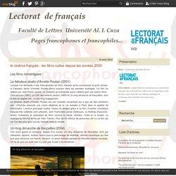 le cinéma français : les films cultes depuis les années 2000 - Lectorat de français de Iasi