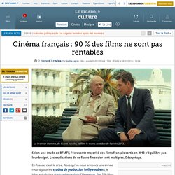 Cinéma français : 90 % des films ne sont pas rentables