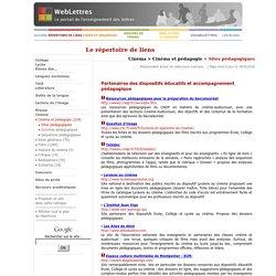 Cinéma > Cinéma et pédagogie > Sites pédagogiques