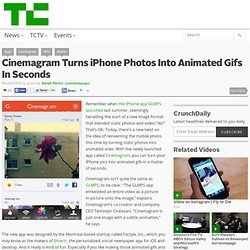 Cinemagram Turns iPhone Photos Into Animated Gifs In Seconds