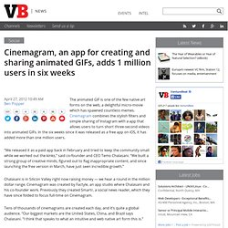 Cinemagram, an app for creating and sharing animated GIFs, adds 1 million users in six weeks