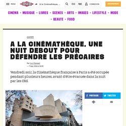 A la Cinémathèque, une nuit debout pour défendre les précaires