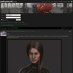 Female cinematic character