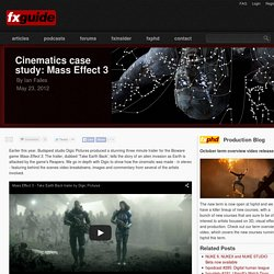 Cinematics case study: Mass Effect 3