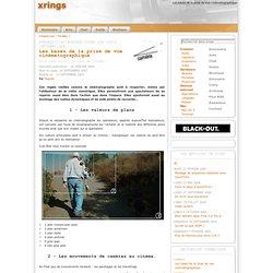 Les bases de la prise de vue cinématographique - xrings, webzine