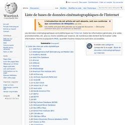 Liste de bases de données cinématographiques de l'Internet