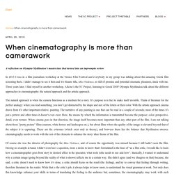 When cinematography is more than camerawork - The 5C Project