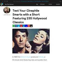 Test Your Cinephile Smarts with a Short Featuring 235 Hollywood Classics