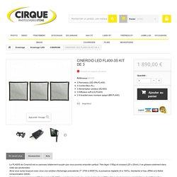 CINEROID LED FL400-3S KIT DE 3 - Le cirque