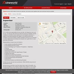 Cineworld Careers