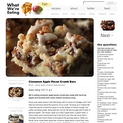 Cinnamon Apple Pecan Crumb Bars « What We're Eating – A Food & Recipe Blog