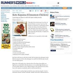 A Cinnamon Chicken Recipe From Runner's World.com
