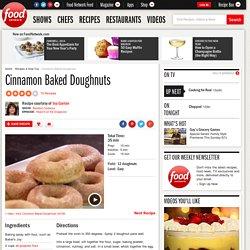 Cinnamon Baked Doughnuts Recipe : Ina Garten