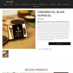 Cinnamon Soap Bar–Handmade Black Pepper SoapOnline India