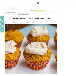 Cinnamon Pumpkin Muffins. - HealthyHappyLife.com
