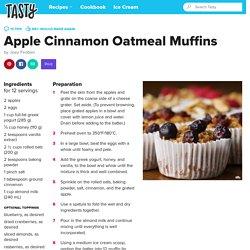 Apple Cinnamon Oatmeal Muffins Recipe by Tasty