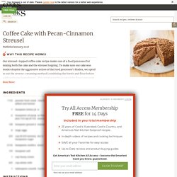 Coffee Cake with Pecan-Cinnamon Streusel