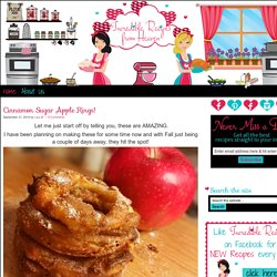 Cinnamon Sugar Apple Rings!