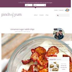 Cinnamon Sugar Radish Chips Recipe