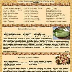 .:Gościnneprogi:. Kasza Kuskus - 23 wegetariańskie przepisy kulinarne