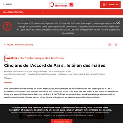 Cinq ans de l'Accord de Paris : le bilan des maires