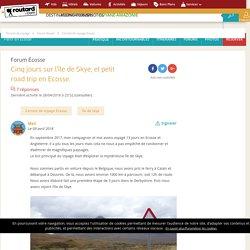 Cinq jours sur l'île de Skye, et petit road trip en Ecosse. : Forum Écosse
