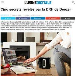 Cinq secrets révélés par la DRH de Deezer