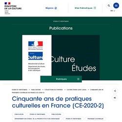 Cinquante ans de pratiques culturelles en France [CE-2020-2]