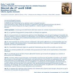 Cent cinquantenaire de l'abolition de l'esclavage