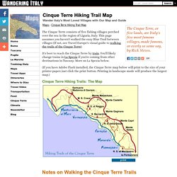 Cinque Terre Trail Map - Walking Cinque Terre Trails
