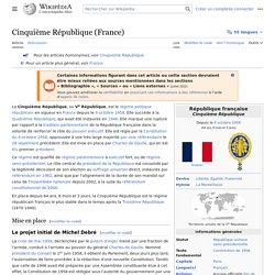 Cinquième République (France)