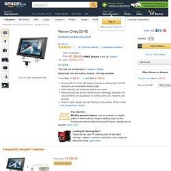 Wacom Cintiq 22 HD: Amazon.co.uk: Computers & Accessories