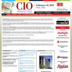CIO Perspectives - Dallas 2012