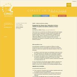 CIPAST - ANDRA – Gestion des déchets nucléaires - Engagement des citoyens dans l'élaboration de futurs scénarios de gestion des