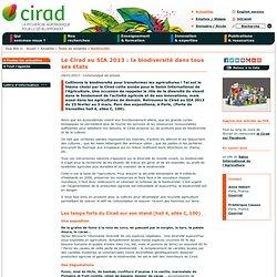 Le Cirad au SIA 2013 : la biodiversité dans tous ses états