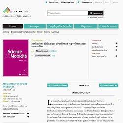 Rythmicité biologique circadienne et performances anaérobies