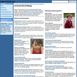 CI Circle Parent Blogs - www.cicircle.org