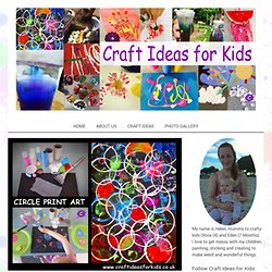 Circle Print Art - Craft Ideas for Kids