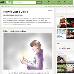 How to Cast a Circle: 10 Steps (with Pictures