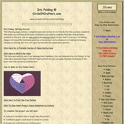 Iris Folding @ CircleOfCrafters.com: Heart Instructions