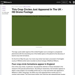 This Crop Circles Just Appeared In The UK - HD Drone Footage