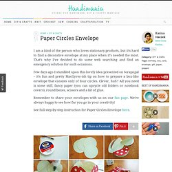 How to Make Paper Circles Envelope