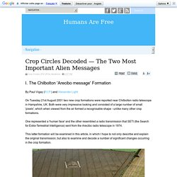 Crop Circles Decoded — The Two Most Important Alien Messages