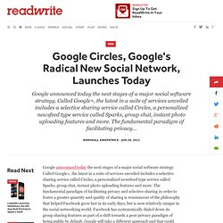 Google Circles, Google's Radical New Social Network, Launches Today
