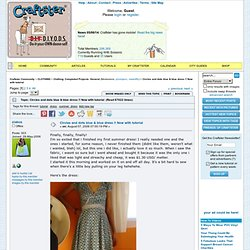 Circles and dots blue & blue dress !! Now with tutorial