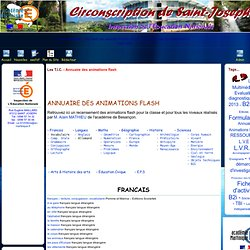 Site de la Circonscription de Saint-Joseph - Les T.I.C. - Annuaire des animations flash