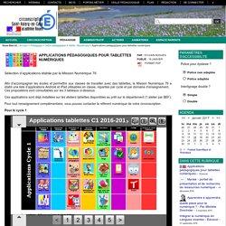 Circonscription Saint-Valery-en-Caux - Applications pédagogiques pour tablettes numériques